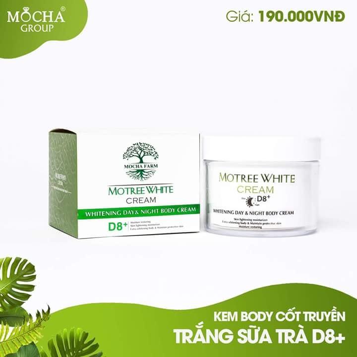 Kem Body cốt truyền trắng Sữa Trà D8+ Mocha