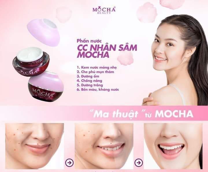 Kem CC phấn nước Hàn Quốc Mocha